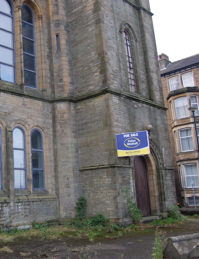 Closed Church, Morecambe, England.